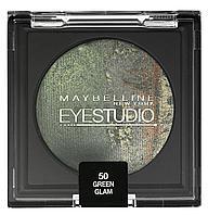 MAYBELLINE Тени Eye Studio Baked Duo 50 роскошный зеленый