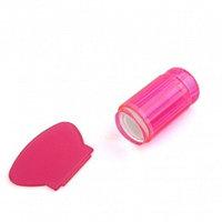 Штамп для стемпинга силиконовый цветной розовый