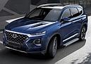 """Пороги """"Bmw-Style"""" Hyundai  Santa Fe (2018-2021), фото 2"""