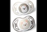 Соска симметричная силиконовая 2 шт. 6-18m  BabyOno, фото 2