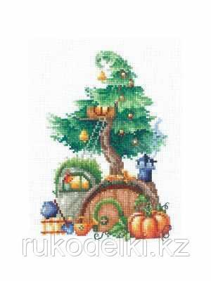 """Набор для вышивания крестом """"Дома на деревьях. Щедрый"""""""