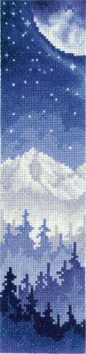 """Набор для вышивания крестом """"Закладки. Луна над лесом"""""""