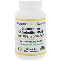 IHerb California Gold Nutrition Глюкозамин хондроитин МСМ с гиалуроновой кислотой №60 капс