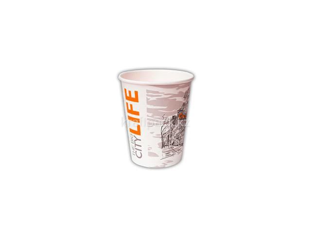 Стакан бумажный для горячих/холодных напитков Big City Life 165мл (4 OZ / D73) (80/2000)