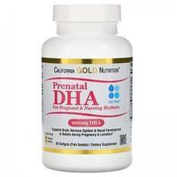 IHerb California Gold Nutrition, пренатальная ДГК для беременных и кормящих женщин, 450 мг № 60 капс