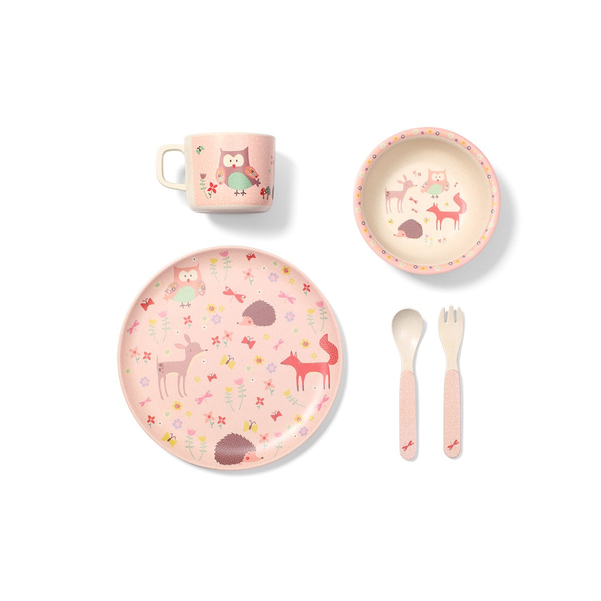Бамбуковая посуда для детей FOREST GREEN Babyono