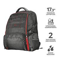 """Рюкзак Trust GXT 1250 Hunter Gaming 17,3"""" черно-красный"""
