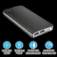Зарядное устройство Power bank Trust Primo Thin 10000 черный