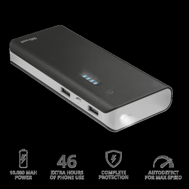 Зарядное устройство Trust  UR PRIMO POWERBANK 10000 - BLACK