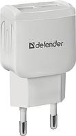 Зарядное устройство сетевое Defender EPA-13, 2xUSB, 5V/2.1А, белый