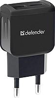 Зарядное устройство сетевое Defender EPA-13, 2xUSB, 5V/2.1А, черный