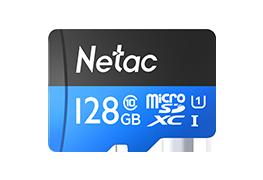 Карта памяти MicroSD 128GB Class 10 U1 Netac P500STN с адаптером SD