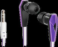 Наушники-вкладыши проводные Defender Trendy 705, черный+сиреневый