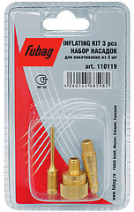 FUBAG Набор насадок для накачивания, 3 предмета