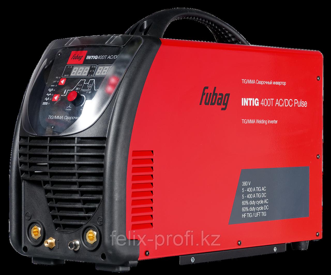 FUBAG Сварочный инверторный аргонодуговой аппарат INTIG 400 T AC/DC PULSE c горелкой FB TIG 26 5P 4m (38459)