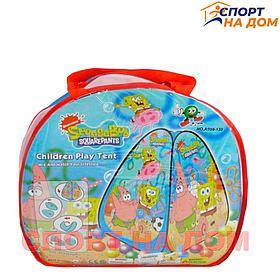 Детский игровой домик-палатка Спанч Боб   ( размеры 76 х 76 х 90 см ) 3+