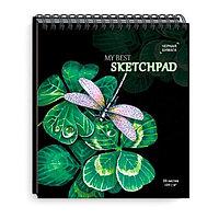 Скетчбук Стрекоза из черной дизайнерской бумаги, 30 листов