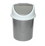 Контейнер д/мусора 14,0л, серо-белый (Violet plast, Россия)