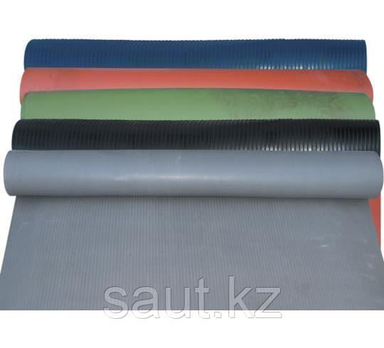 Напольные резиновое средний рубчик, цветные