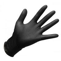 Перчатки виниловые черные/не опудренные/размеры S,M,L