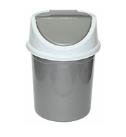 Контейнер д/мусора 4,0л, серо-белый (Violet plast, Россия)