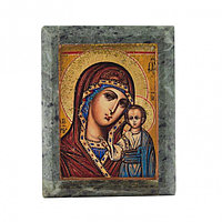 """Икона настольная """"Богородица"""" - красивая икона из змеевика недорого"""