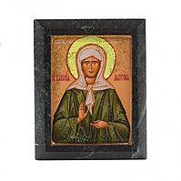 """Икона настольная """"Святая Матрона"""" - красивая икона из камня недорого"""