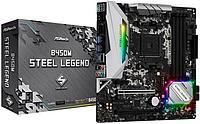 Материнская плата ASRock B450M STEEL LEGEND, AM4, 4xDDR4 (3533+ OC), 4xSATA3, RAID, 1xUM.2 (PCIeGen3 x4),