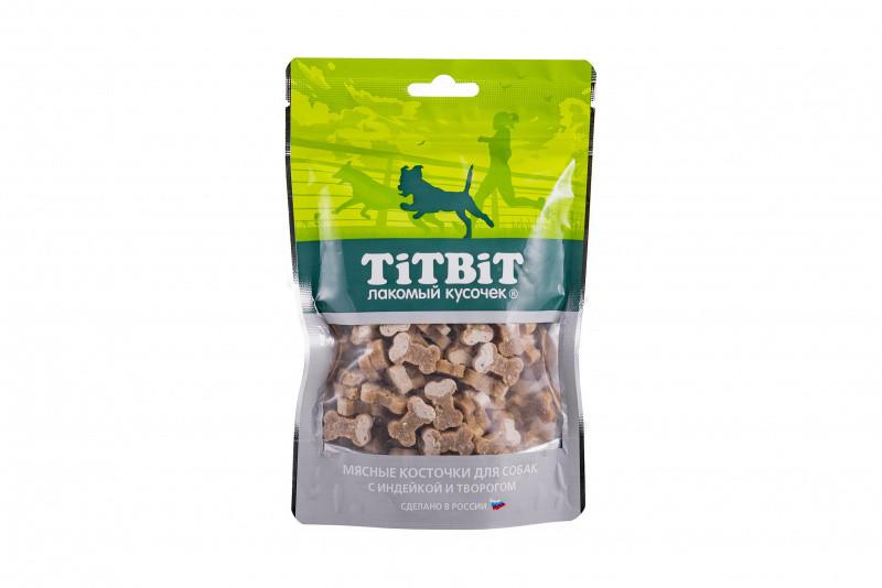 TiTBiT мясные косточки с индейкой и творогом, уп.145гр.