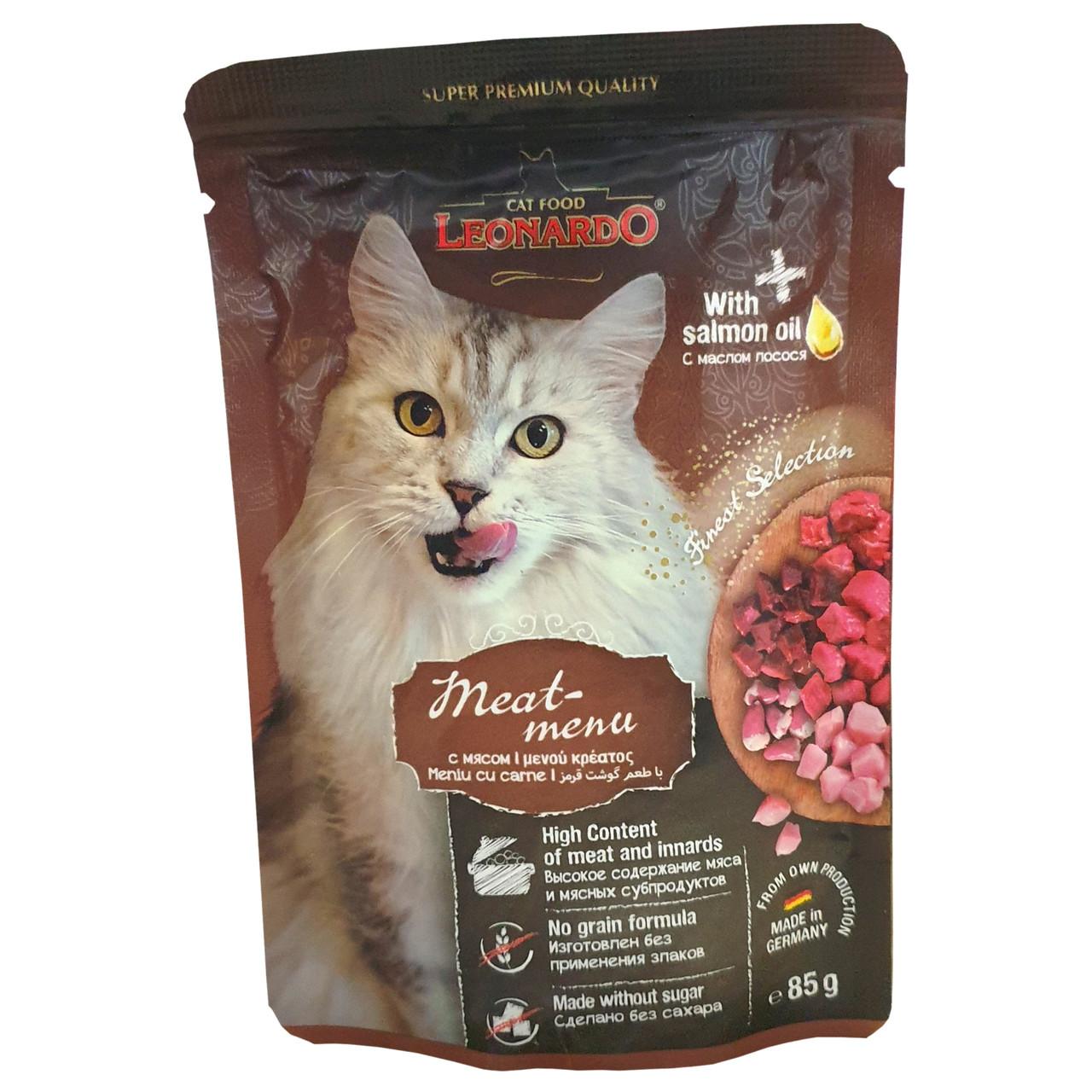 Leonardo Влажный корм для кошек, мясо
