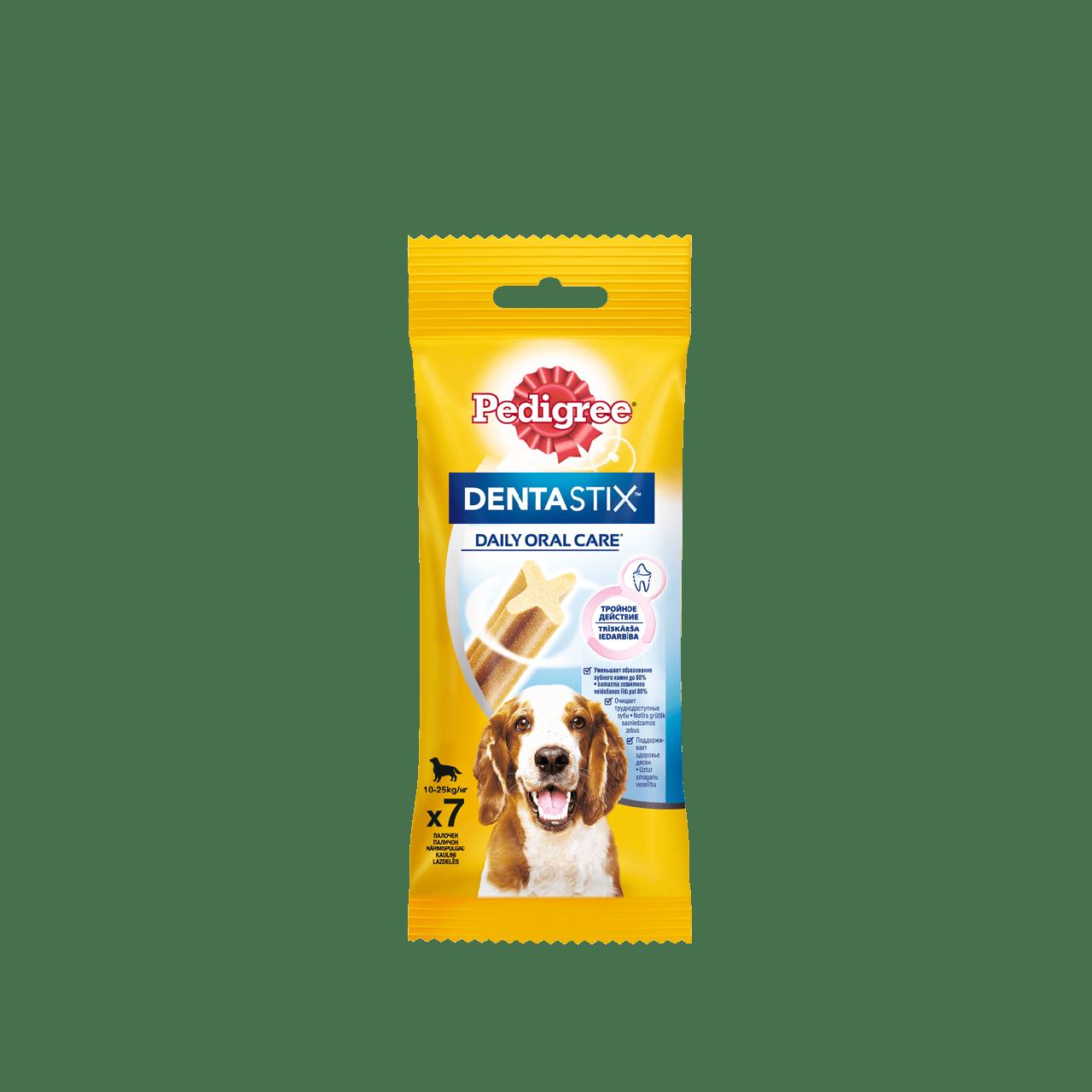 Pedegree Dentastix, для собак средних пород весом от 10 до 25 кг, уп.77гр.