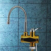 Проточный водонагреватель для кухни (электрический смеситель)TEMMAX RX-007 c гибким гусаком