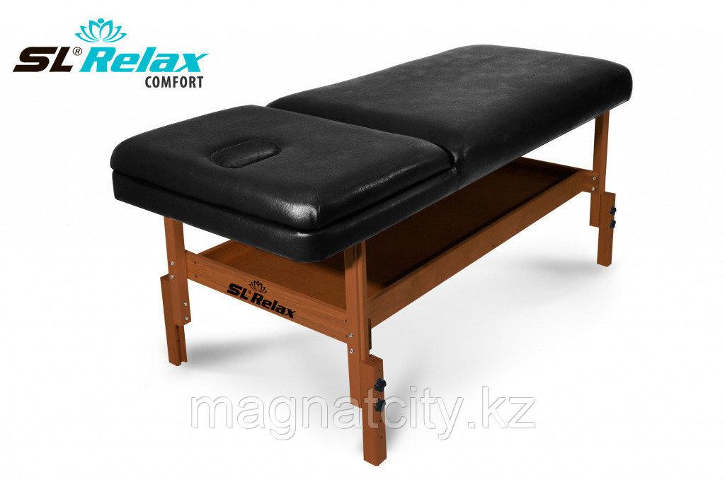 Массажный стол стационарный Comfort SLR-4 (черный)