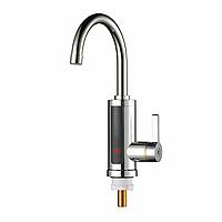 Электрический 60 ° Нагреватель LED Смеситель для горячей воды Ванная комната Кухня Fast Нагреватель