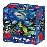 Пазл 3D 63 Акульи воды