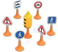 Набор Дорожные знаки №1 (светофор, 6 знаков) 17х12х12 см.