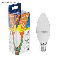 "Лампа светодиодная Volpe ""свеча"" C37, Е14, 6 Вт, 3000 K"