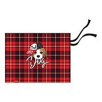 Накладка на стол текстильная (складная) А3 450*330 ErichKrause дев Cute Dog, чёрн/кр 52729