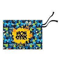 Накладка на стол текстильная (складная) А3 450*330 ErichKrause мал Monsters, син/желт 52738