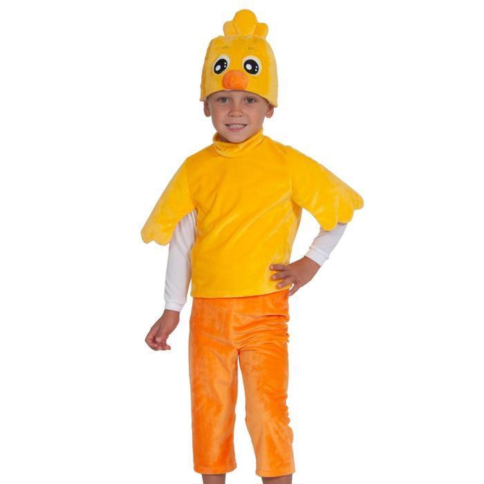 Карнавальный костюм «Цыплёнок», серия «Ми-ми-мишки», 4-5 лет, р. 28-30, рост 104-110 см - фото 1