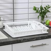 Сушилка для посуды 'Степ', 46x36x10 см, цвет МИКС