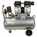 OUTSTANDING 2квт, 50л, 160 л/м, безмасленный, бесшумный, воздушный компрессор, фото 2