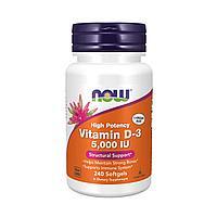 IHerb Now Foods Витамин Д3 5000 МЕ 240 жев таб