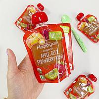 Детское пюре Happy Kid Organic Apple, Beet, Strawberry & Kiwi, 4 Pouches