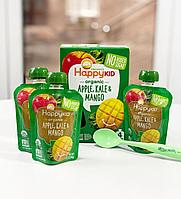 Детское пюре от Happy Kid, Organic Apple, Kale & Mango, 4 Pouches