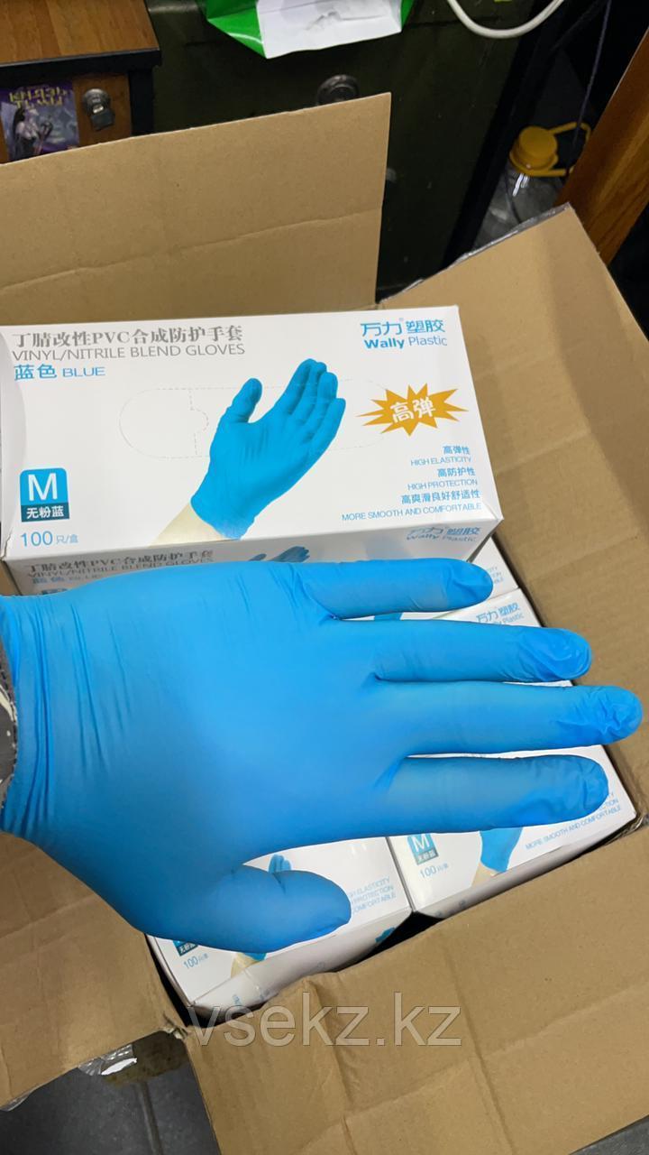 Перчатки Нитрилловые Виниловые Латексные медицинские M L S размеры Перчатки всех цветов - фото 8