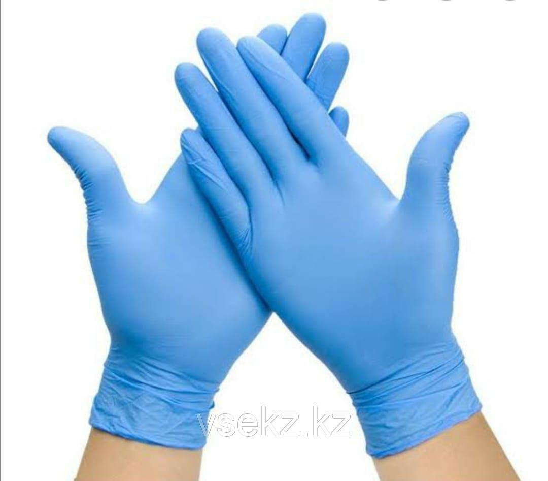 Перчатки Нитрилловые Виниловые Латексные медицинские M L S размеры Перчатки всех цветов - фото 1