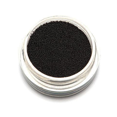 """Бульонки супер мелкие """"TNL"""" - Черные. (0,2 мм.)"""