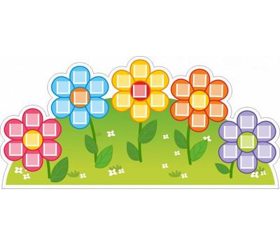 Декоративный стенд для детского сада полянка с цветами