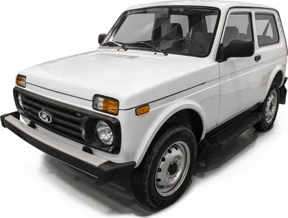 """Пороги """"Black""""  Lada 4x4  3D (1977-2021), Lada 4x4 Urban 3D (2016-2021)"""
